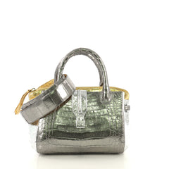 Nancy Gonzalez Cristina Tote Crocodile Small Metallic 433991