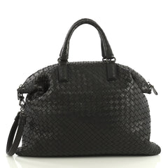 Bottega Veneta Convertible Satchel Intrecciato Nappa Medium Black 433992