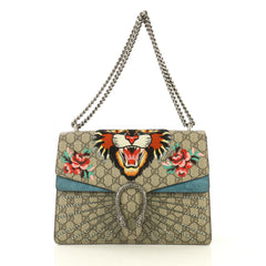 Gucci Dionysus Bag Embellished GG Coated Canvas Medium Brown 434134