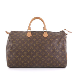 Louis Vuitton Speedy Handbag Monogram Canvas 40 Brown 4342211