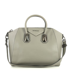 Givenchy Antigona Bag Leather and Kenya Metal Medium Gray 434491
