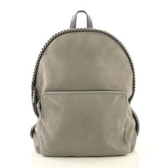 Stella McCartney Falabella Front Pocket Backpack Shaggy Deer Medium Gray 4346204