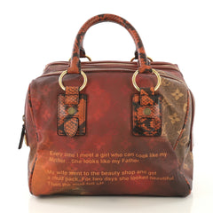 Louis Vuitton Mancrazy Jokes Handbag Monogram Canvas and Snakeskin  Red 434751