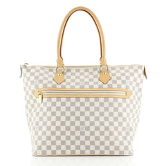 Louis Vuitton Saleya Handbag Damier GM White 434946