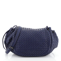 Bottega Veneta Flap Messenger Bag Intrecciato Nappa Small Blue 435209