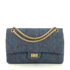 Chanel Multicolor Stitch Reissue 2.55 Flap Bag Quilted Denim 226 Blue 435303