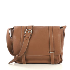 Hermes Steve Messenger Bag Clemence 35 Brown 4354112