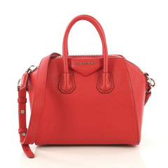 Givenchy Antigona Bag Leather Mini Red 435416