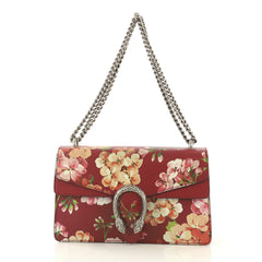 Gucci Dionysus Bag Blooms Print Leather Small Red 435418
