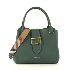 Burberry Buckle Tote Leather Medium Green 435701