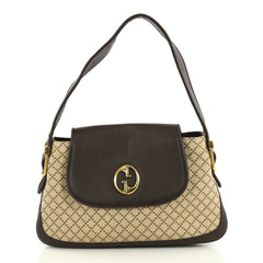 Gucci 1973 Satchel Diamante Canvas and Leather Medium Brown 4357214