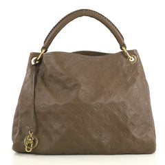 Louis Vuitton Artsy Handbag Monogram Empreinte Leather MM Brown 4358011