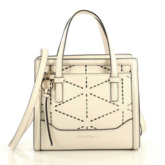 Amy Tote Perforated Leather Mini
