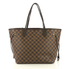 Louis Vuitton Neverfull NM Tote Damier MM Brown 436141