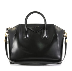Givenchy Antigona Bag Glazed Leather Medium Black 436161