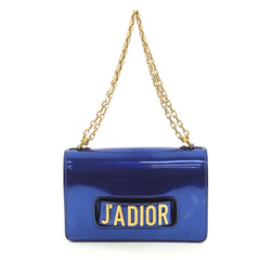Christian Dior J'adior Flap Bag Patent Medium Blue 436291