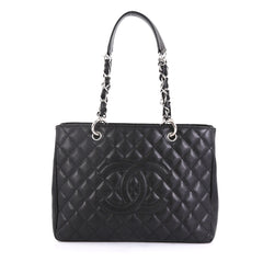Chanel Grand Shopping Tote Quilted Caviar Black 4366412