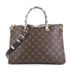 Louis Vuitton Pallas Tote Monogram Canvas with Python Brown 4366424