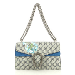 Gucci Dionysus Bag Blooms Print GG Coated Canvas Small Blue 4366437