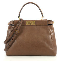 Fendi Peekaboo Bag Leather Regular Brown 4366454