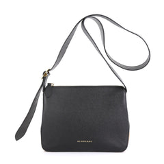 Burberry Helmsley Crossbody Bag Leather with House Check Canvas Small Black 4366461