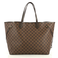 Louis Vuitton Neverfull Tote Damier GM Brown 4366462