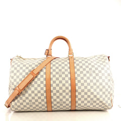 Louis Vuitton Keepall Bandouliere Bag Damier 55 White 4366471