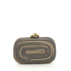 Bottega Veneta Knot Clutch Braided Leather Small Neutral 4366491