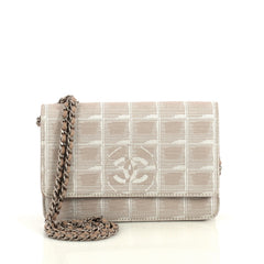 Chanel Travel Line Wallet on Chain Quilted Nylon Neutral 4366495