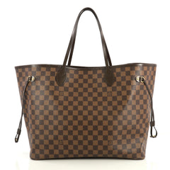 Louis Vuitton Neverfull NM Tote Damier GM Brown 437131