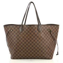 Louis Vuitton Neverfull Tote Damier GM Brown 437222