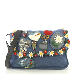 Chanel Paris-Salzburg Crest Austrian Messenger Embroidered Felt Small