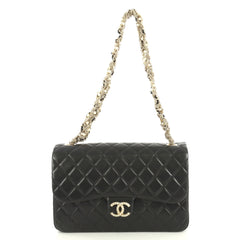 Chanel Westminster Tangled Pearl Chain Flap Bag Quilted Lambskin Medium Black 43727103