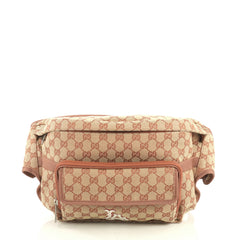 Gucci MLB Convertible Belt Bag GG Canvas With Applique Brown 43727108