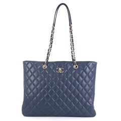 Classic CC Shopping Tote Quilted Calfskin Large