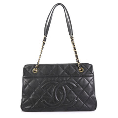 Chanel Timeless CC Shopping Tote Quilted Caviar Medium Black 43727116