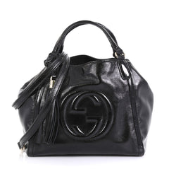 Gucci Soho Convertible Shoulder Bag Patent Small Black 43727118