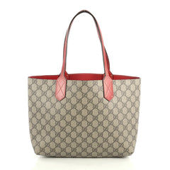 Gucci Reversible Tote GG Print Leather Small Brown 43727124