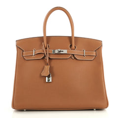 Hermes Birkin Handbag Brown Togo with Palladium Hardware 35 Brown 4372716