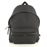 Saint Laurent City Backpack Printed Canvas Black 4372735