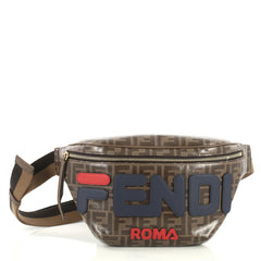 Fendi Mania Waist Bag Zucca Coated Canvas Brown 4372741