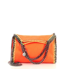 Stella McCartney Falabella Fold Over Crossbody Bag Shaggy Deer Mini Orange 4372747