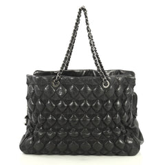 Chanel Paris-Moscow Bubble Pyramid Tote Quilted Lambskin Large Black 4372759