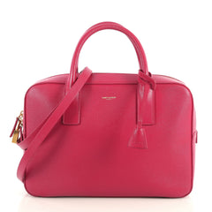 Saint Laurent Museum Flat Briefcase Leather Small Pink 4372761