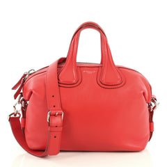 Givenchy Nightingale Satchel Waxed Leather Small Red 4372770