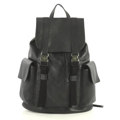 Gucci Signature Buckle Backpack Guccissima Leather Black 4372773