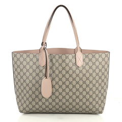 Gucci Reversible Tote GG Print Leather Medium Brown 4372782