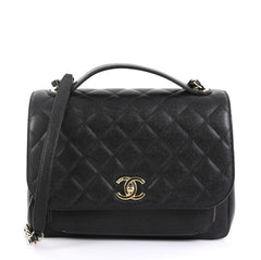 Chanel Business Affinity Flap Bag Quilted Caviar Large Black 4372787