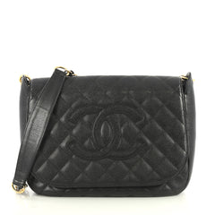 Chanel Timeless CC Chain Flap Bag Quilted Caviar Medium Black 4372790