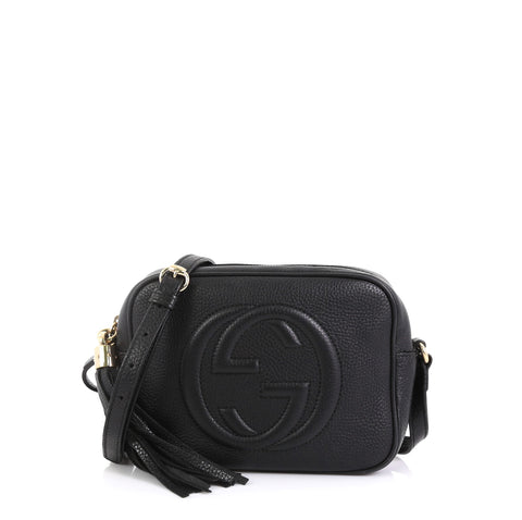 070af46f8 Gucci Soho Disco Crossbody Bag Leather Small Black 437551 – Rebag